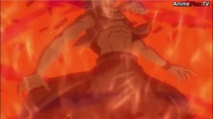 Natsu, the fire dragon slayer, is getting owned by fire...