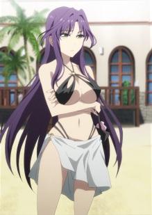 Omake ScreenCap - Netoge no Yome wa Onnanoko ja Nai to Omotta - Episode 7 - Akane Bold Swimsuit