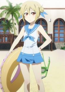 Omake ScreenCap - Netoge no Yome wa Onnanoko ja Nai to Omotta - Episode 7 - Akane Sailor Swimsuit